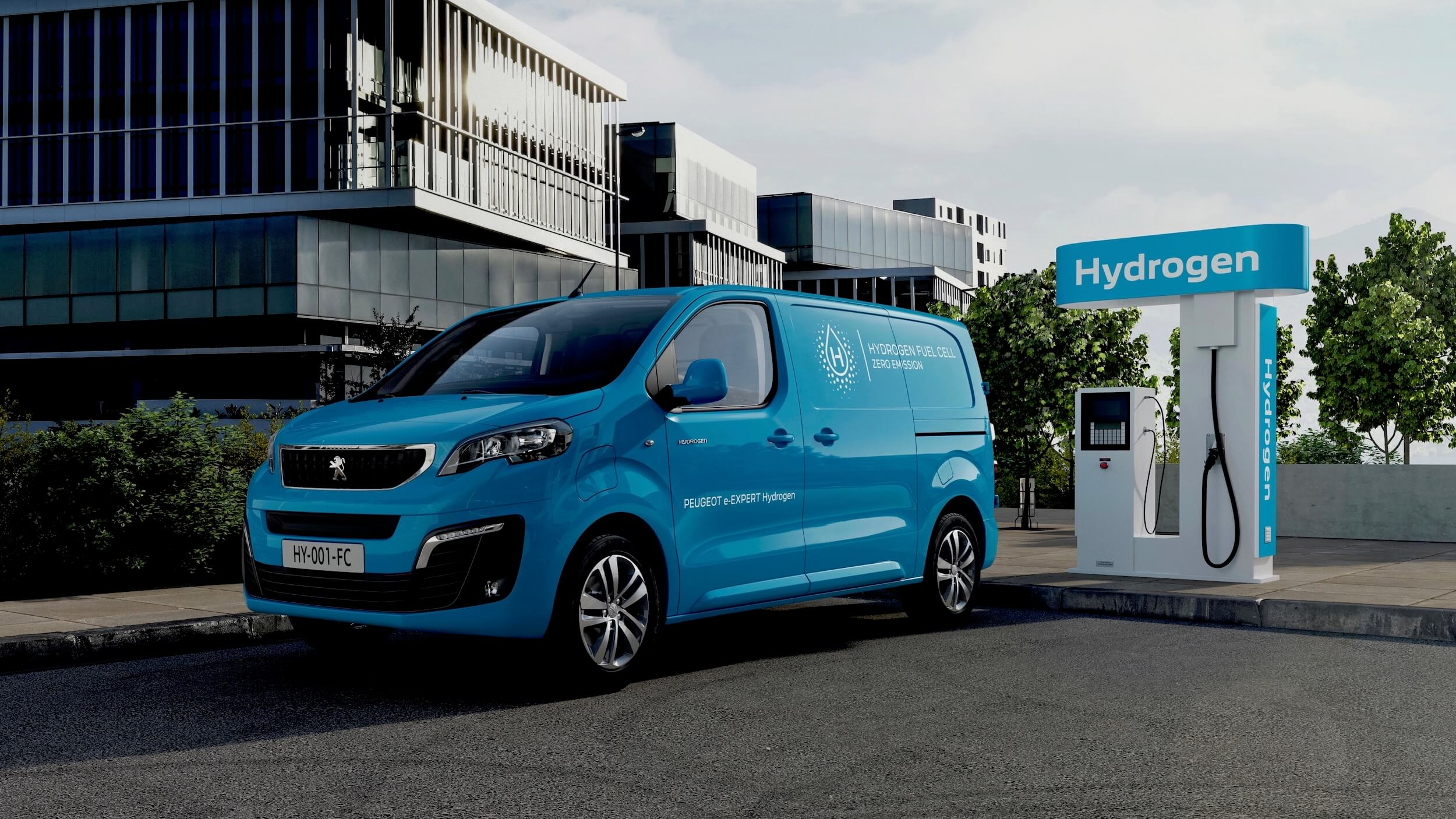 Peugeot e Expert Hydrogen bestelwagen op waterstof