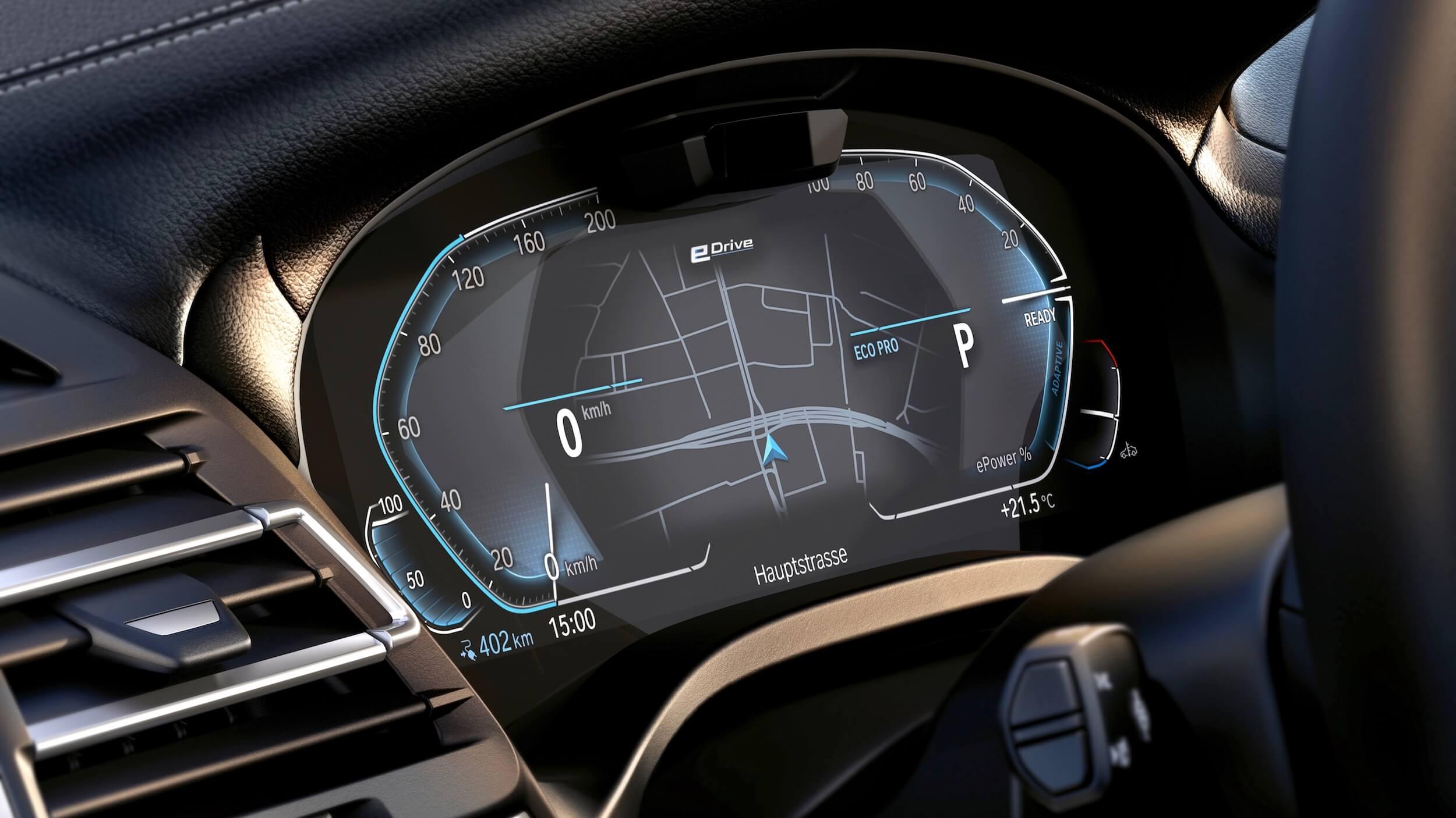BMW iX3 scherm