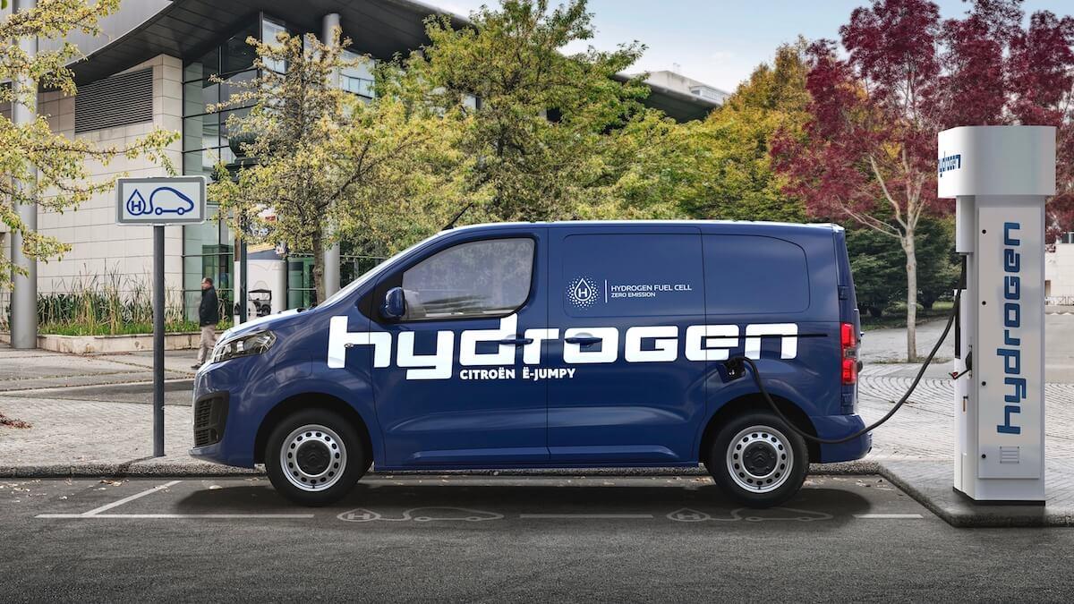 bestelwagen op waterstof
